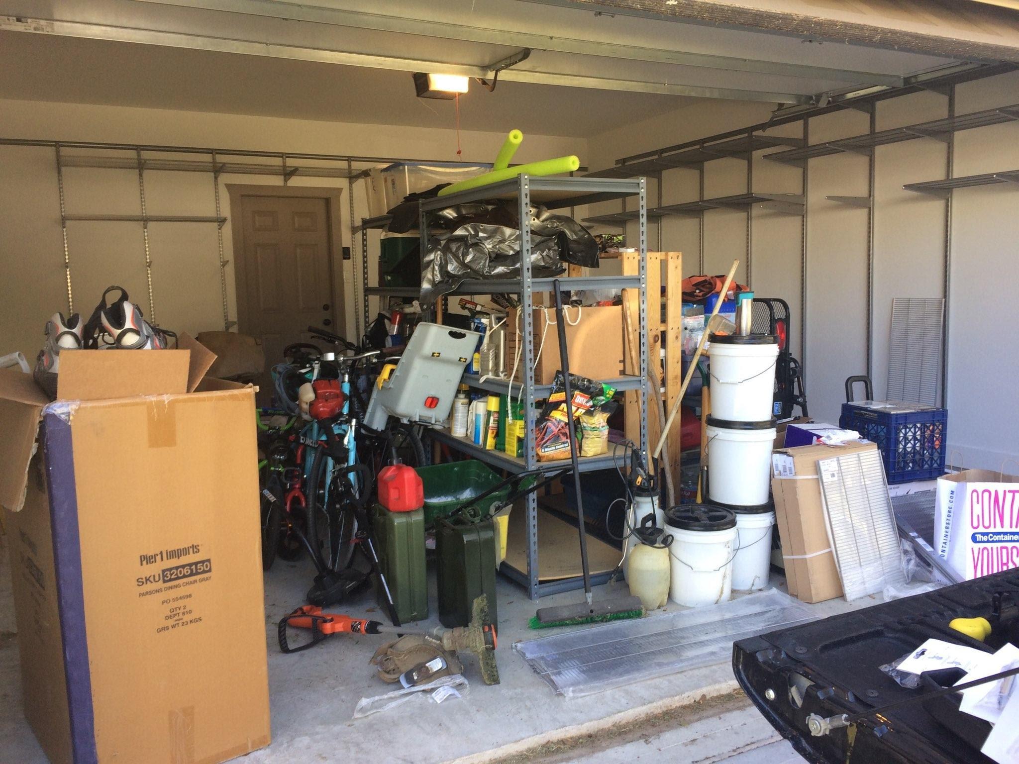 Garage Organization Before 1